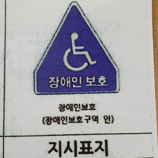 장애인보호구역 안